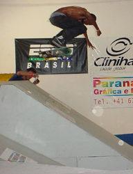 Alex Carolino, Nollie bigspin para vencer a fase eliminatória
