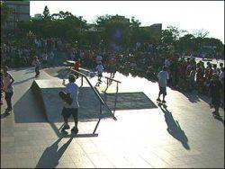 Comemoração de um ano da pista de Porto Alegre
