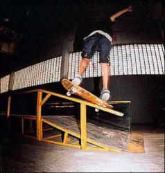 Backside boardslide