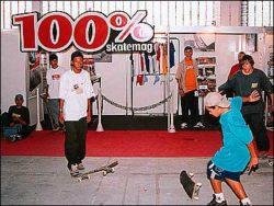 Estande da 100% Skatemag