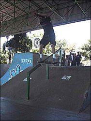 Troy, frontside tailslide.