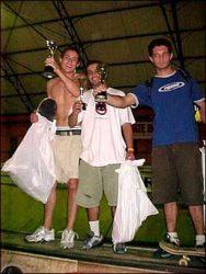 Pódio vertical amador, Vitor Simão (primeiro colocado), Reginaldo (segundo colocado) e Roger Santos