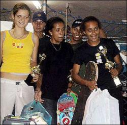 Da esquerda para direita: Karen (3ª), Marta Linaldi (2ª) e Mônica Messias (1ª) da categoria amador