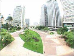 Vista panorâmica do Vale do Anhangabaú, centro de São Paulo