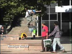 Rodrigo Gerdal, 360° flip sobre o canteiro
