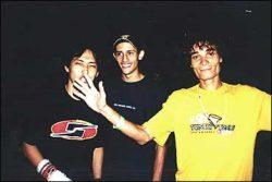 Os três primeiros colocados do amador 1: Marcos Hiroshi (segundo), Alexandre Sobral (terceiro) e Cas