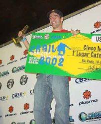 Sandro Dias Mineirinho, o vencedor no vertical