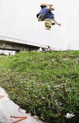 I Desafio de Rua (barranco): Mamá ganhou no barranco com este switch varial heelflip