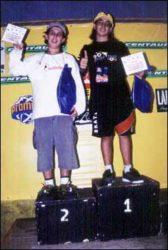 Ranking mirim final: Rolinha (segundo), Felipe (campeão)