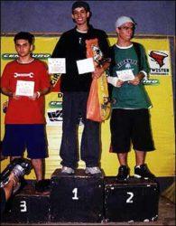 Ranking final amador 2: Hurso (terceiro), Frank (campeão) e Tiago (segundo)