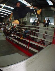 Piolho, 360º flip to fakie no quarter