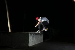 Anselmo Carvalho - flip frontside noseslide. Foto: Vinicius Branca