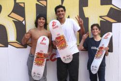 Pedro, Vicenzo e Gui Pódio Amador (Foto: Julio Detefon)