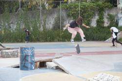 Virginia Fortes Aguas, varial flip (foto Allan Carvalho)
