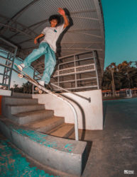 Marco Gomes, frontside boardslide